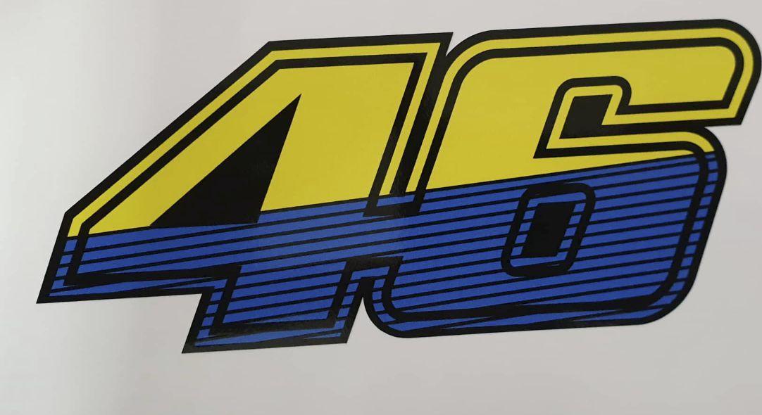 Valentino Rossi 46 Gelb Blau Schwarz