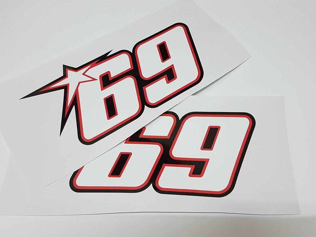 Startnummer 69 2er Set Nicky Hayden