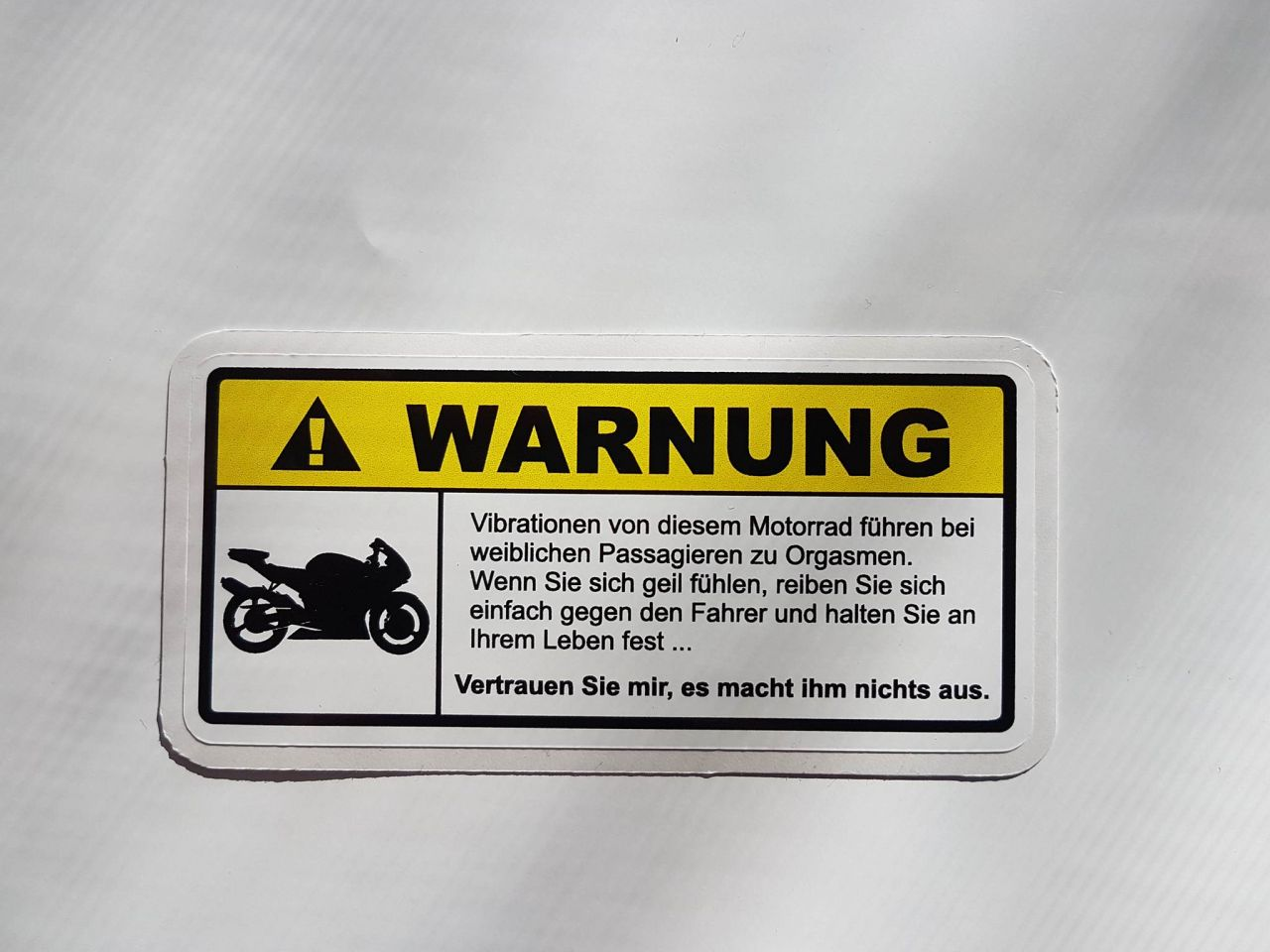 Warnung....Vibrationen