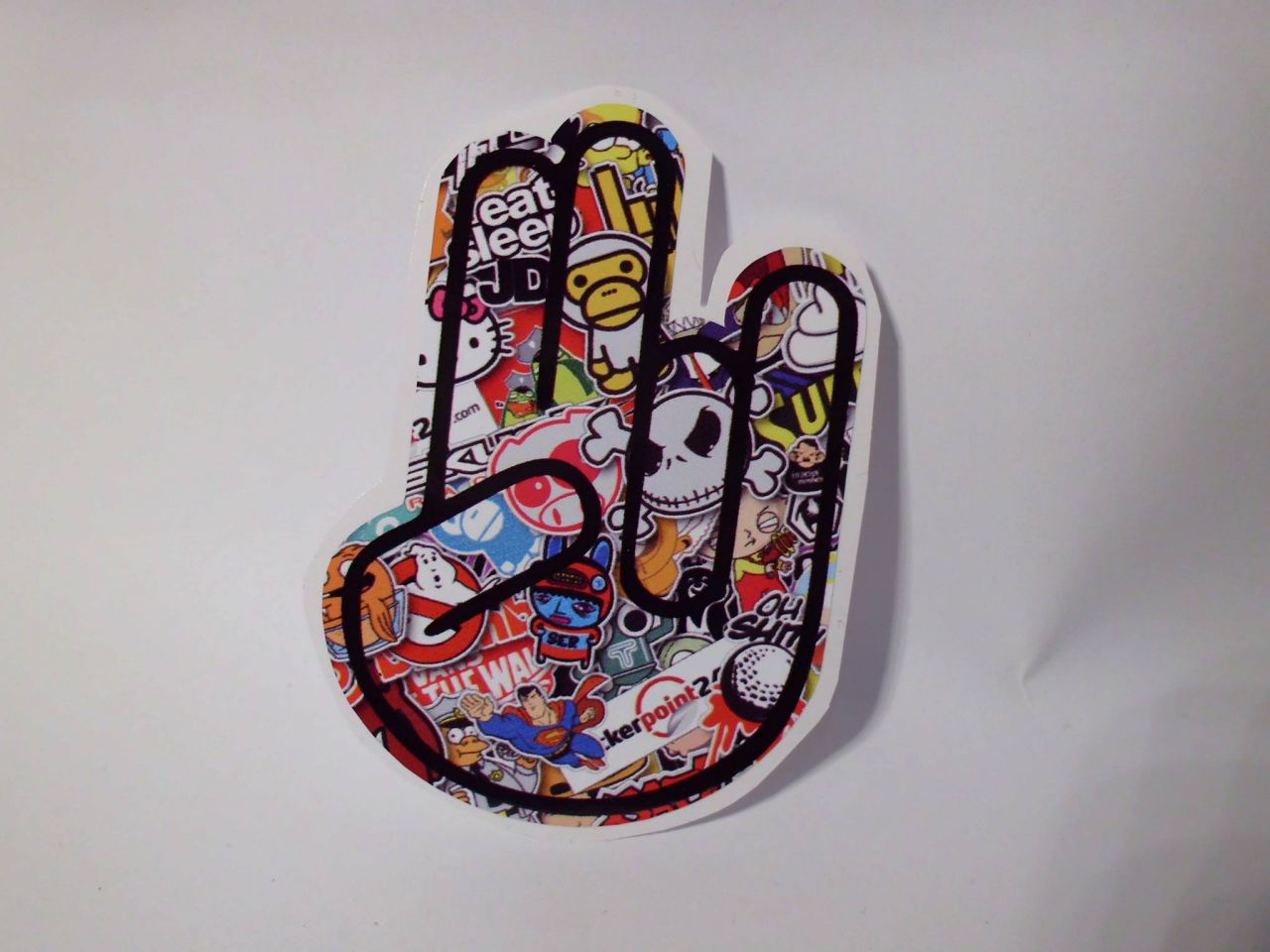 The Shocker Hand Stickerbomb