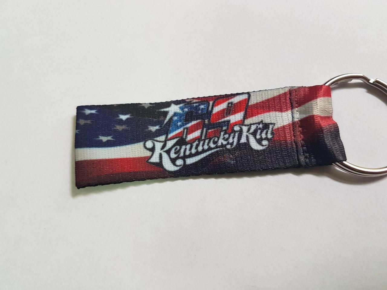 Schlüsselanhänger beidseitig bedruckt Nicky Hayden 69 USA Flagge