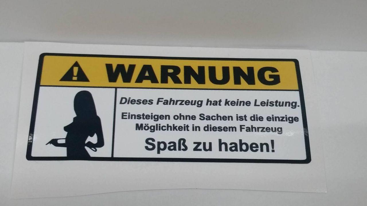Warnung....wenig Leistung