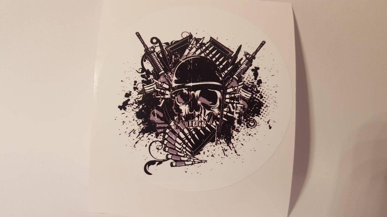 Totenkopf Skull Rund
