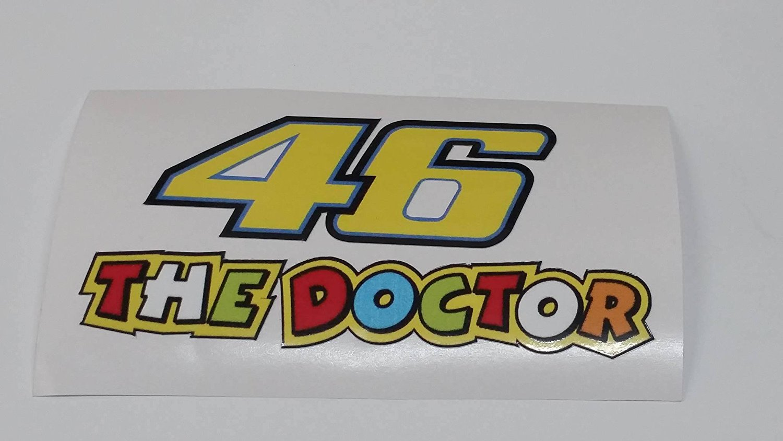 valentino rossi 46 the doctor aufkleber sticker decal logo. Black Bedroom Furniture Sets. Home Design Ideas
