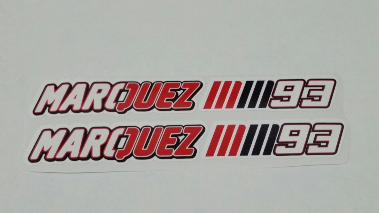 Marquez 93 2er Set Motogp weltmeister Aufkleber Sticker Decal Logo Auto Bike Car Helm