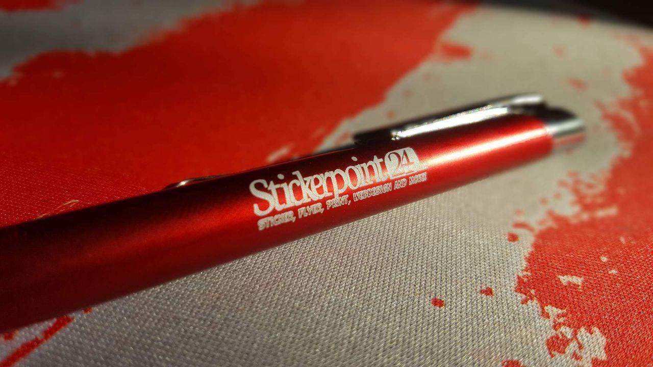 Merchandise Metall Kugelschreiber Rot mit Lasergravur